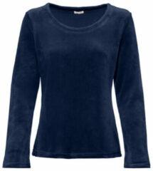 Enna Biokatoenen nicki shirt met ronde hals, nachtblauw 36/38
