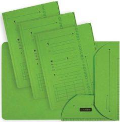 OXFORD Ultimate dossiermap, formaat A4, uit karton, met 2 kleppen, pak van 25 stuks, groen