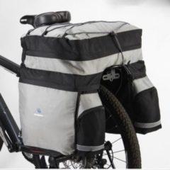 Filmer Fahrrad Tasche Gepäckträgertasche Trekking 60 L... silber-blau