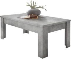 Pesaro Mobilia Salontafel Urbino 122 cm breed in grijs beton