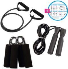 Zwarte Fitness Fit Pakket - VirtuFit set - Inclusief trainingsschema