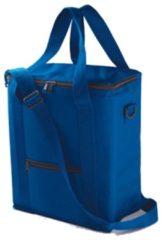 Hoge koeltas blauw voor flessen 30 x 36 cm - 18 liter - Koeltassen voor onderweg/op het strand