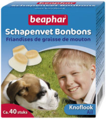 Beaphar Schapenvet Bonbons Knoflook - Hond - Aanvullend voer - 245 gr