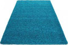 Himalaya Basic Shaggy vloerkleed Turquoise Hoogpolig - 160x230 CM