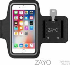 Zwarte ZAYO Sportarmband iPhone 8 Hardloop armband