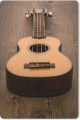 MousePadParadise Muismat Akoestische gitaar - Akoestische gitaar op een houten tafel muismat rubber - 18x27 cm - Muismat met foto