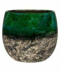 Ter Steege Pot Lindy groen Black donkergroene ronde bloempot voor binnen 16 cm