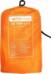 Oranje DD Hammocks Tarp 3x3 - Sunset Orange - Lichtgewicht