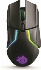 Steelseries RIVAL 650 Gaming-muis Radiografisch Optisch Ergonomisch, Verlicht, Gewichtsreductie, Afneembare kabel Zwart, RGB