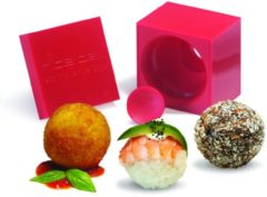 Rode Rice Cube Rice Ball - Kunststof - Ø 4 cm - Rood