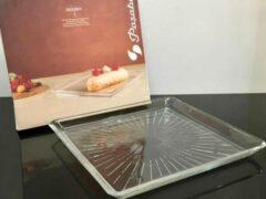 Transparante Paşabahçe Pasabahce Madlen – Vierkant Dessertbord – 240 MM