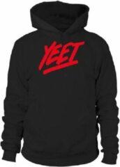 Zwarte Fruit of the Loom Hoodie sweater | Yeet | Black | Maat 140 (9-11 jaar)