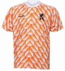 Oranje Merkloos / Sans marque EK 88 Voetbalshirt 1988 Blanco-152 Junior Unisex - Maat 152