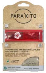 Parakito Armband design rood met 2 tabletten 1 Stuks