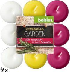 Blokverpakking 18 theelichten citronella garden 17/38 Citronella/Rozemarijn Bolsius