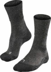 Antraciet-grijze FALKE TK1 Wool Heren Wandelsokken - Smog - Maat 46/48