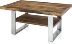 Henke Möbel Couchtisch Eiche Altholz mit Boden