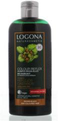 Logona Kleurshampoo bruin zwart bio hazelnoot 250 Milliliter