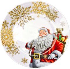 Porzellanservice mit freundlichem Weihnachtsmann rot