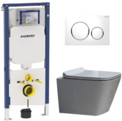 Douche Concurrent Geberit UP720 Toiletset - Inbouw WC Hangtoilet Wandcloset Rimfree - Alexandria Flatline Sigma-20 Wit