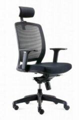 Zwarte BenS 820DH Ergonomische bureaustoel met hoofdsteun. Model BenS 820DH