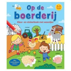 Deltas Op de Boerderij Kleur- en Stickerboek met Woordjes 3-5 jaar