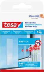 Transparante 8x Tesa Powerstrips voor spiegels/ruiten klusbenodigdheden - Klusbenodigdheden - Huishouden - Plakstrips/powerstrips - Dubbelzijdig - Zelfklevend - Tape/strips/plakkers