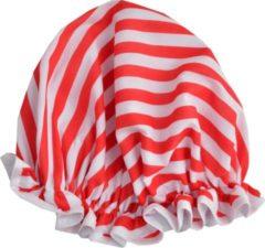 Rode Vagabond Traditionele Engelse Douchemuts - Red Stripe