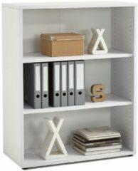 FD Furniture Open Boekenkast Calvia Medium van 111 cm hoog - wit