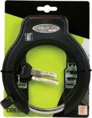 Dresco ringslot 14,7 x 18,8 cm RVS zwart 3 delig