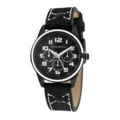 Coolwatch by Prisma CW.251 Kinderhorloge Jack staal/leder zwart-wit 32 mm