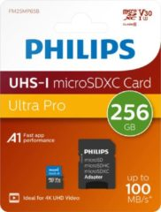 Philips Micro SDXC kaart 256GB, Class 10 UHS-I U3 incl. Adapter, 4K