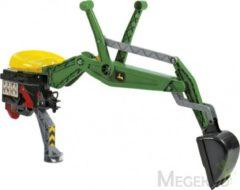 Groene Rolly Toys achterlader Backhoe John Deere groen