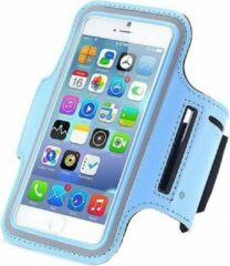 Lichtblauwe Qatrixx Sports armband case Licht Blauw Light Blue voor Apple iPhone 7 Plus