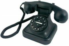 Profoon D-SIGN GRAHAM Retro telefoon - Uniek design met mechanische bel - Zwart