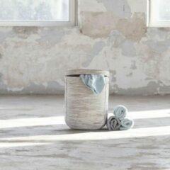 Witte Het Mandenhuys Wasmand Stripe White Wash (klein)