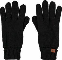 Sarlini Zwarte gebreide handschoenen voor kinderen - One size - Warme fleece voering handschoenen voor jongens/meisjes