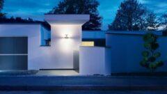 Antraciet-grijze Steinel L 820 LED iHF up-/downlight incl. huisnummer sensorlamp antraciet 035754