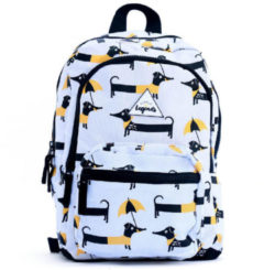 Paarse Little Legends-Rugzakken-Backpack Small Dog-Wit