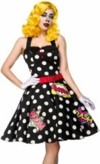 Mask Paradise Kostuum -S- Pop Art Girl Zwart
