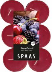 Roze Candles by Spaas 48x Maxi geurtheelichtjes Berry Cocktail 10 branduren - Geurkaarsen bosvruchten geur - Grote waxinelichtjes