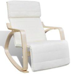 Creme witte VidaXL Verstelbare schommelstoel met leuning (Cremekleur)