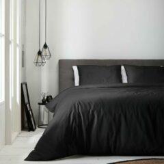Luna Bedding Dekbedovertrek Luna Uni - Zwart
