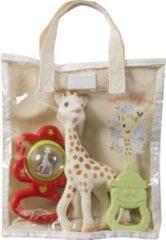 Rode Sophie de Giraf cadeau tas