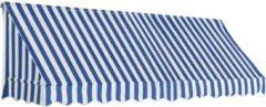VidaXL Luifel 300x120 cm blauw en wit VDXL 143723