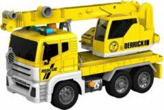 Gele Jollity Works JollyVrooom - Takelwagen met licht en geluid - Schaal 1:14