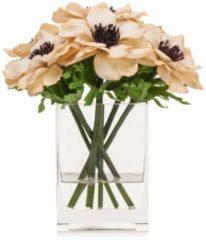 Fleurange Kunst-Anemonen in Glasvase - Beige/Braun