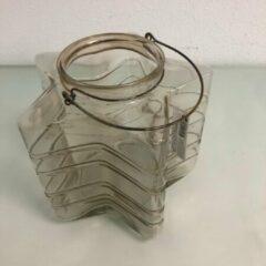 Grijze Merkloos / Sans marque Glazen waxinelicht houder