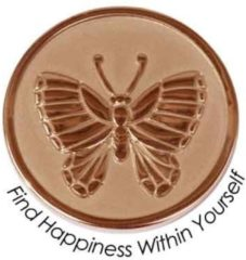 Quoins QMOZ-10S-R Find Happiness Within Yourself munt rosekleurig
