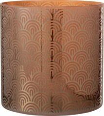 J-Line Windlicht Boog Glas Oranje X-Large